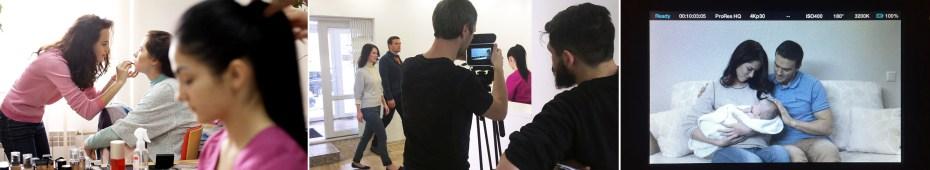 За кадром: съемка видеоролика для клиники Aurora IVF