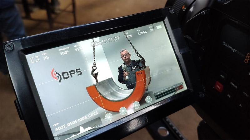 Съемка корпоративного фильма DPS за кадром